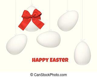 Easter eggs seamless pattern