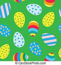 Easter eggs seamless pattern