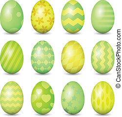 Easter eggs set. Colorful vector illustration. EPS 10