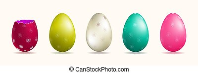 Easter Eggs, set