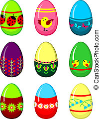 Easter eggs set.