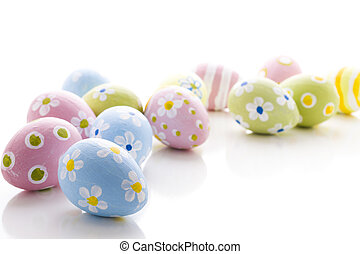 Easter eggs - Hand painted Easter eggs wwith rought strokes...
