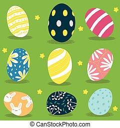 Easter eggs. Vector illustration