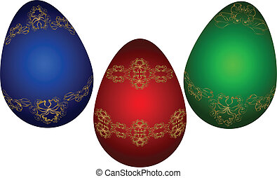 Easter eggs. Vector illustration. Eps 10.