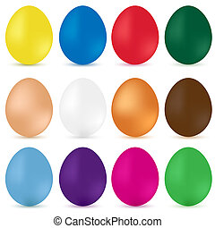 Easter eggs. Vector