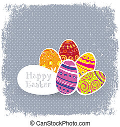 Easter eggs vintage background.