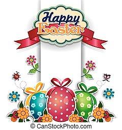 Easter eggs white background.eps
