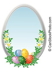 Easter eggs with camomiles