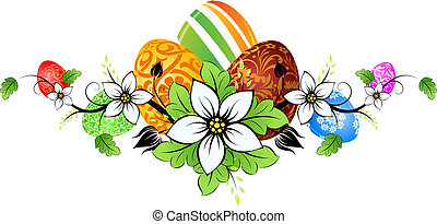 Easter Eggs with Flowers