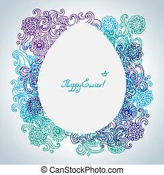 Easter floral background