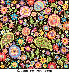 Easter floral wallpaper with eggs - Easter floral wallpaper...