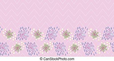 Easter flower Frame Border seamless pattern