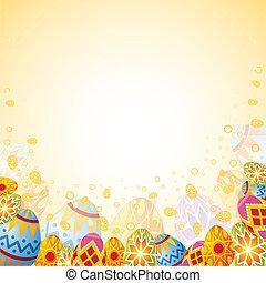 Easter frame with eggs, element for design, vector illustration