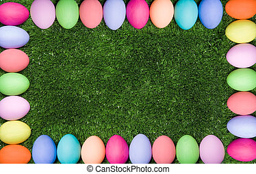 Easter framing - Background composed as colorful egg framing...