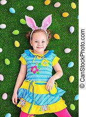 Easter girl and bunny