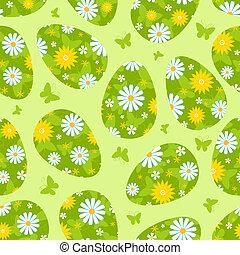Easter green seamless pattern.