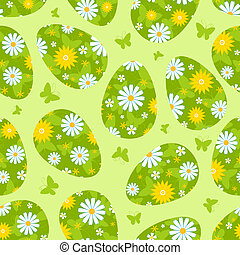 Easter green seamless pattern.