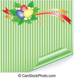 Easter green sticker