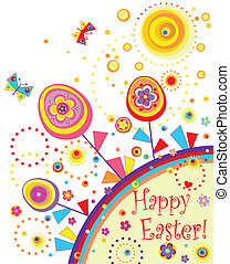 Easter greeting abstract card