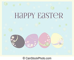 Easter greeting card. - Easter soft and tender colors and...