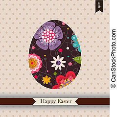 Easter greeting card with place for your text