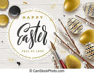 Easter greeting illustration.