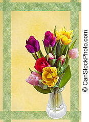 Easter greetingcard with tulips