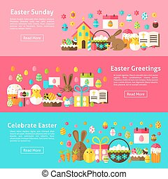 Easter Greetings Web Horizontal Banners
