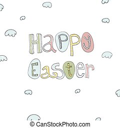 Easter Hand Drawn Card