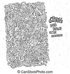Easter hand drawn doodles vector illustration