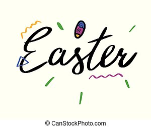 Easter hand drawn lettering.