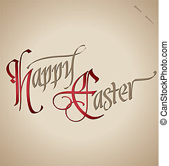 easter hand lettering (vector)