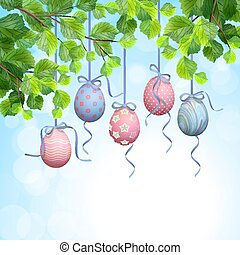 Easter Hanging Eggs