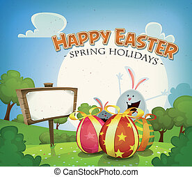 Easter Holidays Background