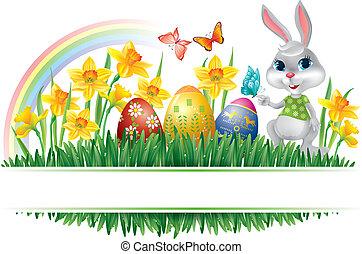 Easter horizontal frame