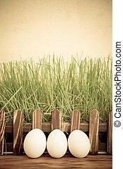 easter ikra, képben látható, zöld fű