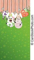 Easter illustration. Vertical orientation