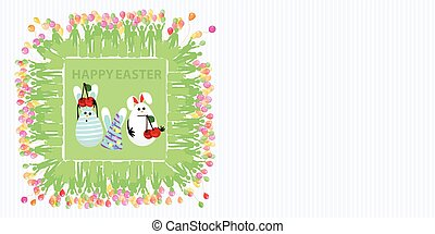 Easter illustration with place for text