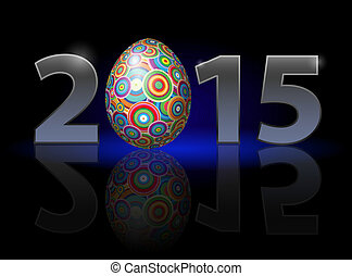 Easter in 2015 - Easter holiday in 2015: metal numerals with...