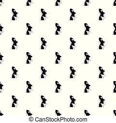 Easter island pattern vector seamless