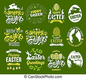 Easter label set