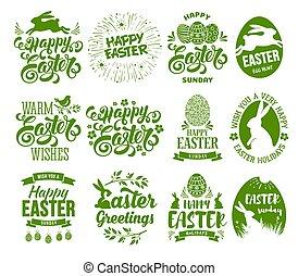 Easter label set
