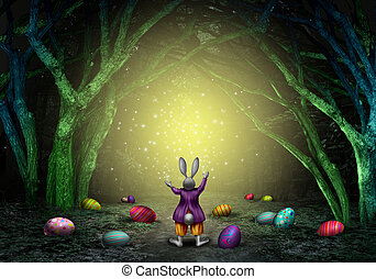 Easter Magic Background