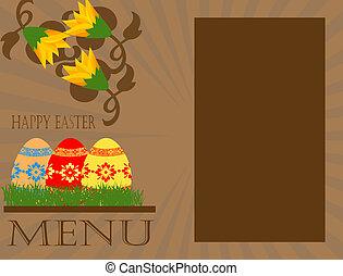 easter menu concept