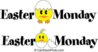 Easter Monday sign