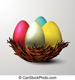 Easter nest isolated