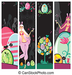 Easter Night Party Banners
