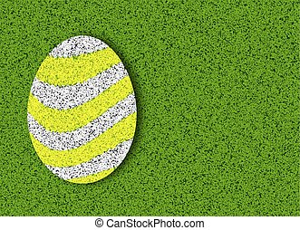 Easter on a green lawn