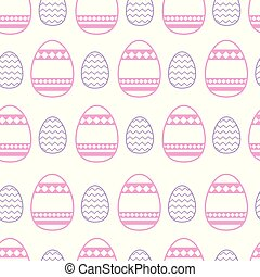 Easter Pattern Seamless Background With Colorful Decorative Eggs