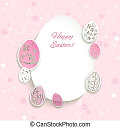 Easter pink background